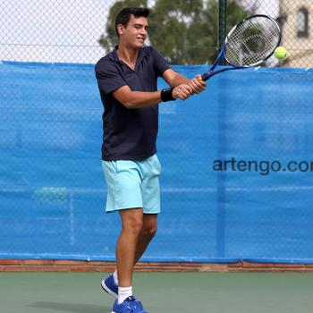 Herenpolo tennis Dry 100 - 401214