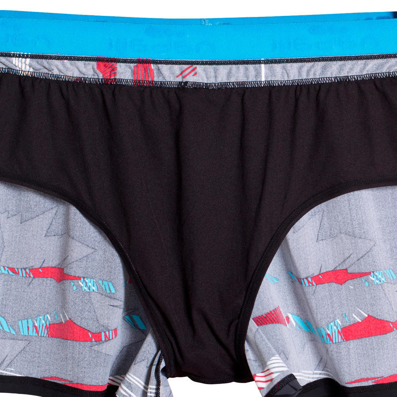 B-FREE PLUS men's swim SHORTS - BLACK RED