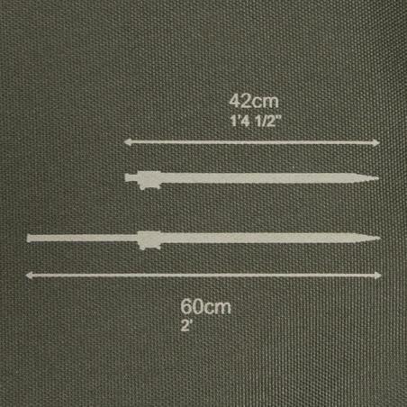 """Makšķeru statīva komplekts """"Sticks + 2-Rod Buzzbar"""""""