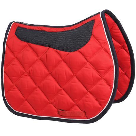 tapis de selle quitation grippy rouge taille cheval. Black Bedroom Furniture Sets. Home Design Ideas