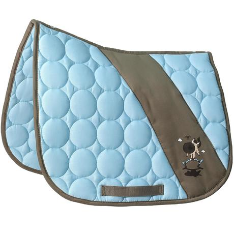 Tapis de selle quitation easy bleu ciel taille poney shetland fouganza - Decathlon equitation tapis ...