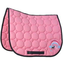 Zadeldek Love ruitersport roze - Shetlandpony