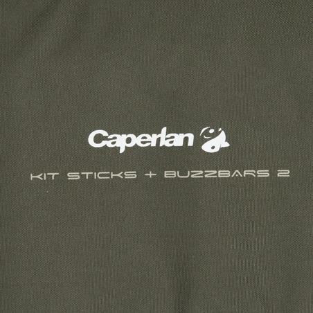 Trousse support de cannes à pêche pour la carpe piquets + Buzzars 2