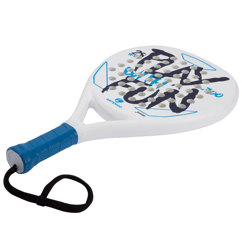 Paleta de pádel para niños PR700 blanca / azul