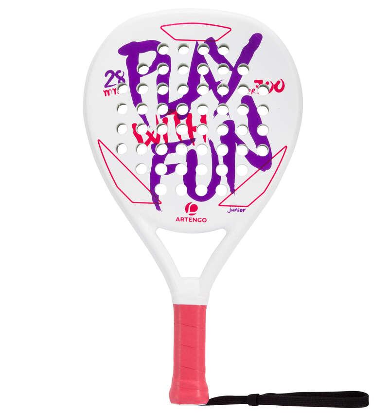 JUNIOR PADEL Other Racket Sports - PR700 Kids' - White/Purple ARTENGO - Other Racket Sports