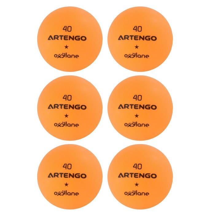 BALLES DE TENNIS DE TABLE FB800 ORANGE LOT DE 6