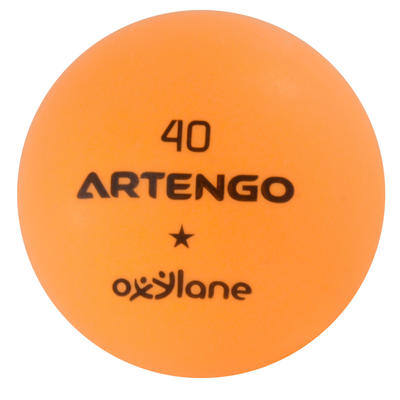 BALLES DE TENNIS DE TABLE FB800 ORANGE LOT DE 6