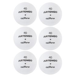 Tafeltennisballen FB800 wit 6 stuks