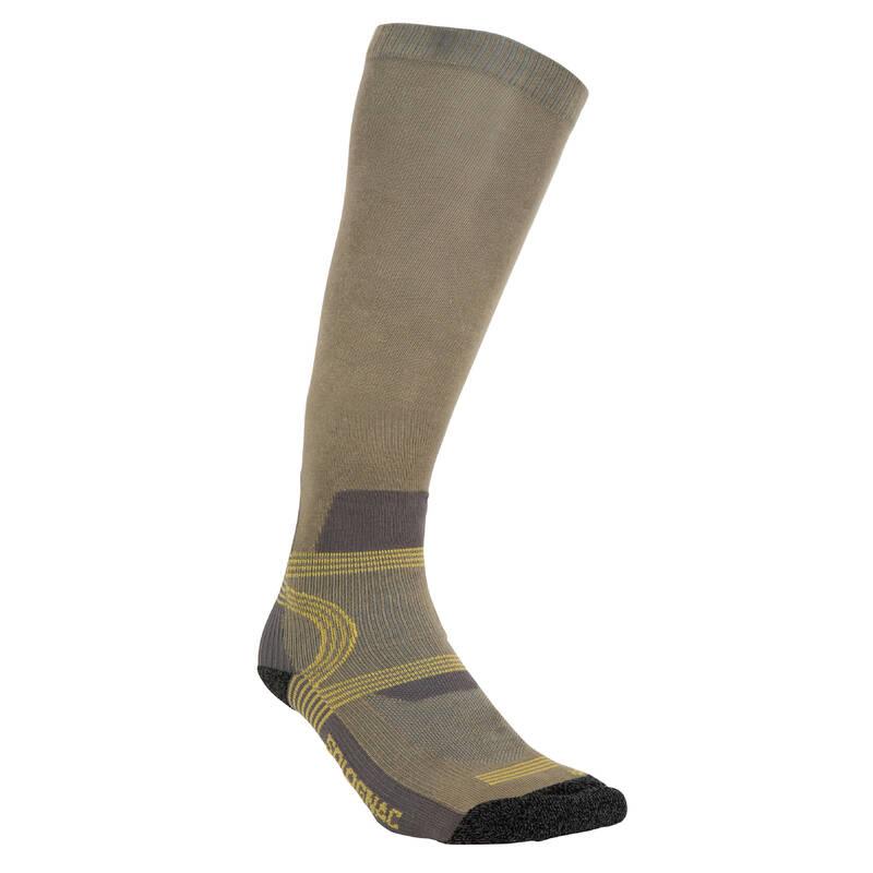 PONOŽKY A PŘÍSLUŠENSTVÍ K LOVECKÝM BOTÁM Myslivost a lovectví - PODKOLENKY 500 ZELENÉ SOLOGNAC - Myslivecká obuv a ponožky