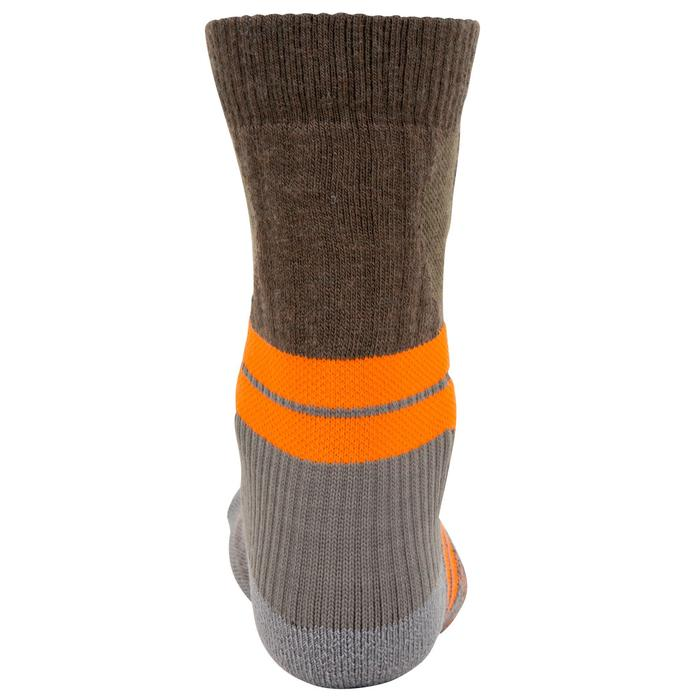 Calcetines Caza Solognac S900W Gris Naranja