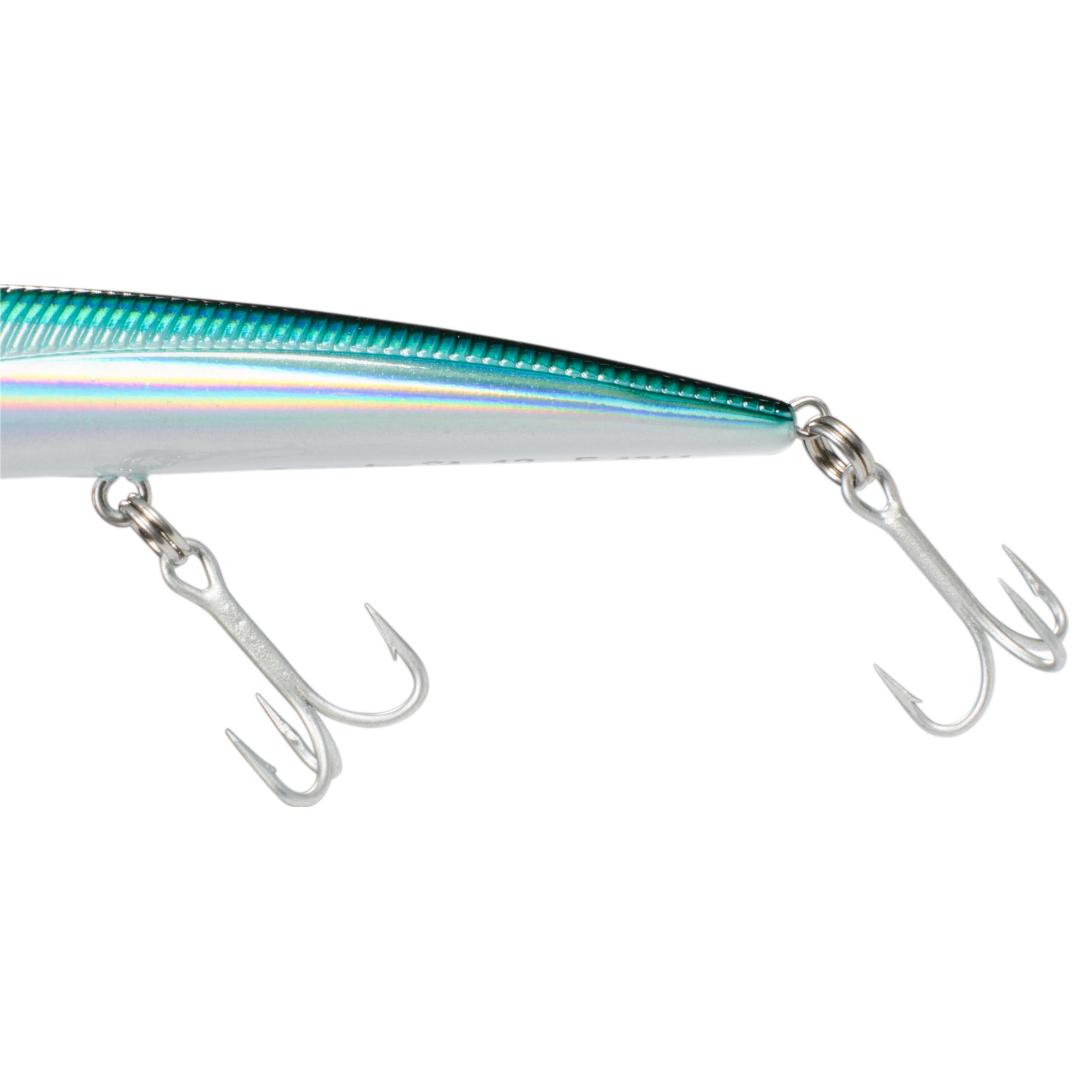 Saxton slim 125 holo blue floating sea fishing plug bait