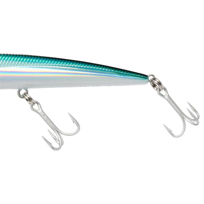 Wobbler Jerkbait Saxton Slim 125 holografisch blau