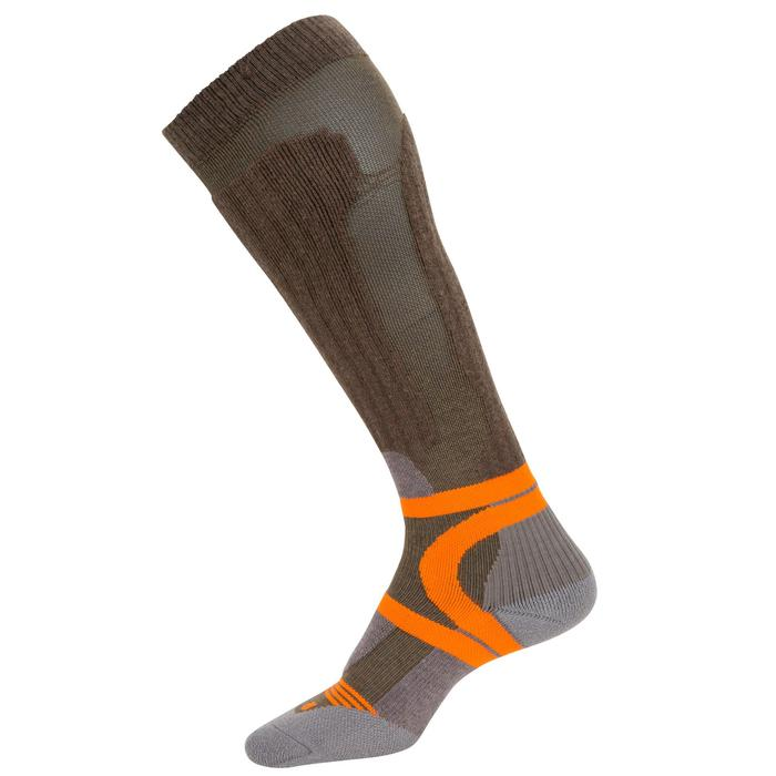 Chaussette chasse Max-Warm 500 high marron - 40254