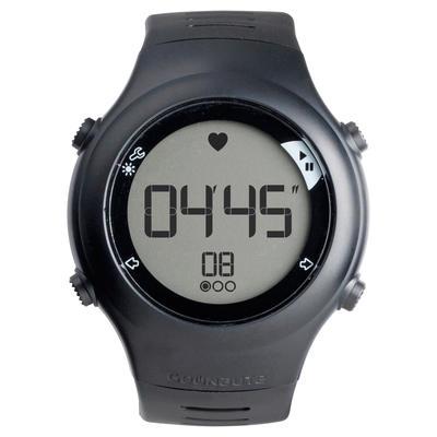 Reloj y cinturón monitor de frecuencia cardiaca ONRHYTHM 110 negro