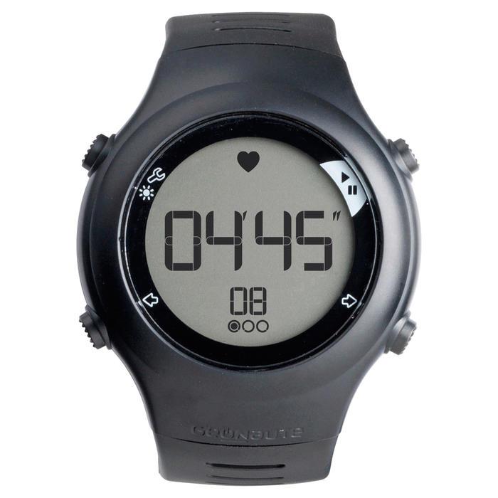 Đồng hồ đo nhịp tim ONRHYTHM 110 và dây HRM - Đen