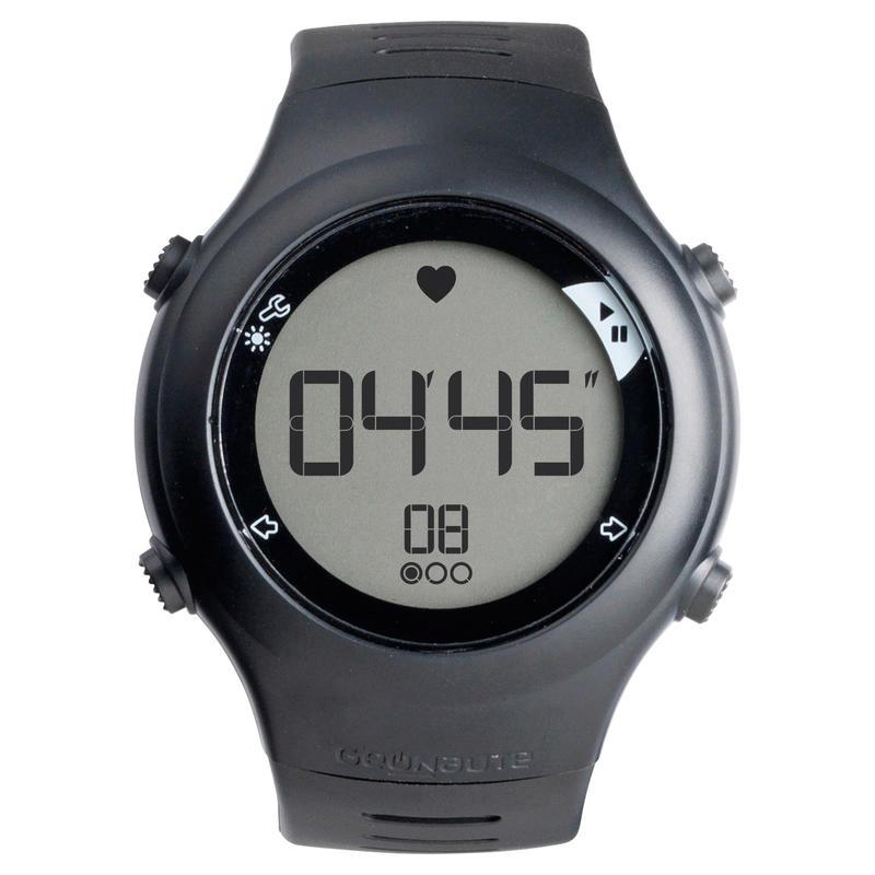 Reloj pulsómetro de running ONRHYTHM 110 negro