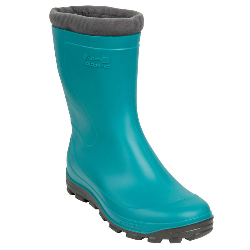 INSULATED WELLIES Shooting and Hunting - GLENARM WOMENS WARM LOW WELLIES GREEN SOLOGNAC - Shooting and Hunting