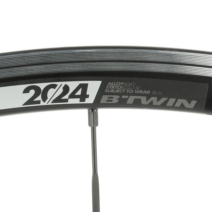 Racewiel 700 Aero zwart voor