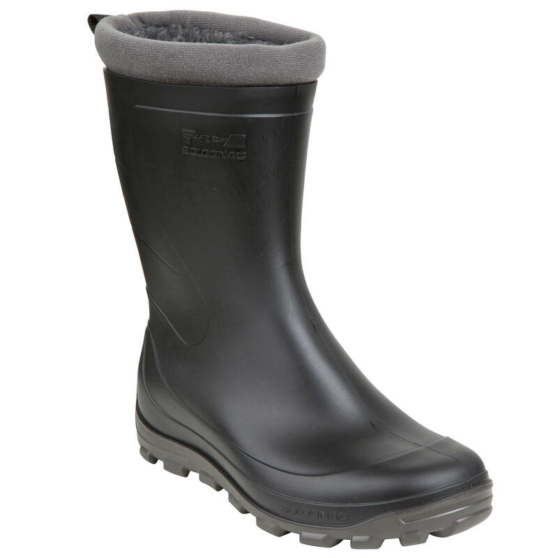 INSULATED WELLIES Shooting and Hunting - GLENARM WOMENS WARM LOW WELLIES BLACK SOLOGNAC - Shooting and Hunting