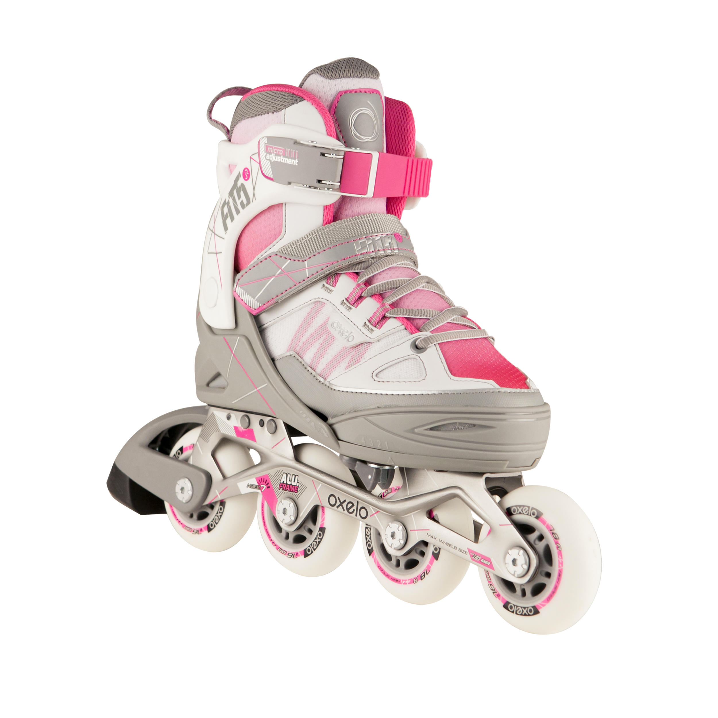 Fit 5 Kids Inline Fitness Skates - Pink/White