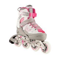 Roller fitness enfant FIT 5 Jr rose/blanc