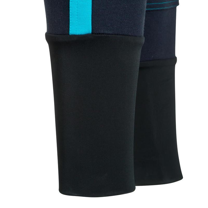 Pantalon équitation femme BICO 500 bleu marine et turquoise
