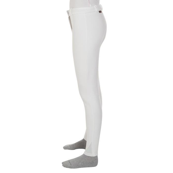 Pantalon Concours équitation femme BR100 blanc - 405806