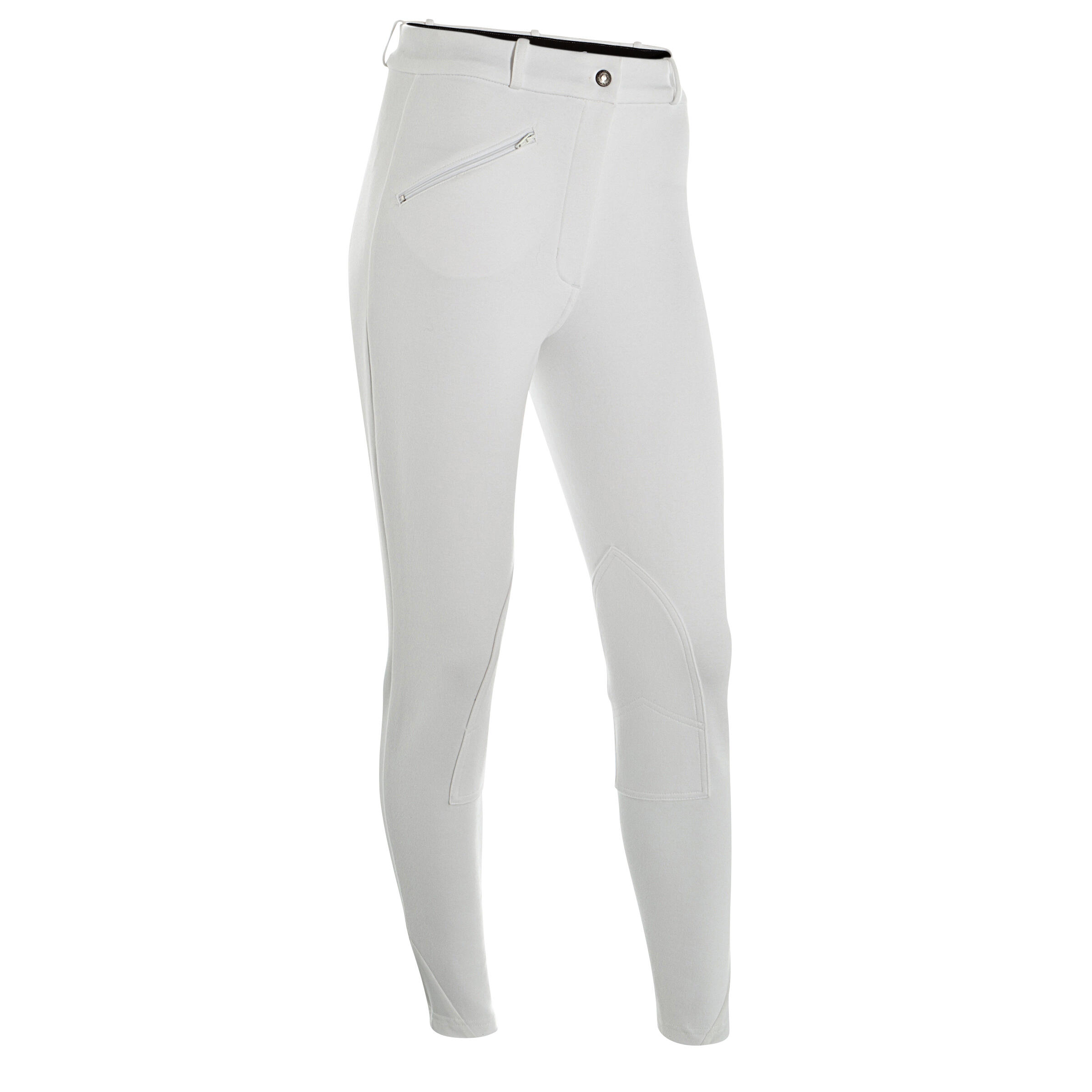 Fouganza Wedstrijdbroek BR100 voor dames ruitersport wit