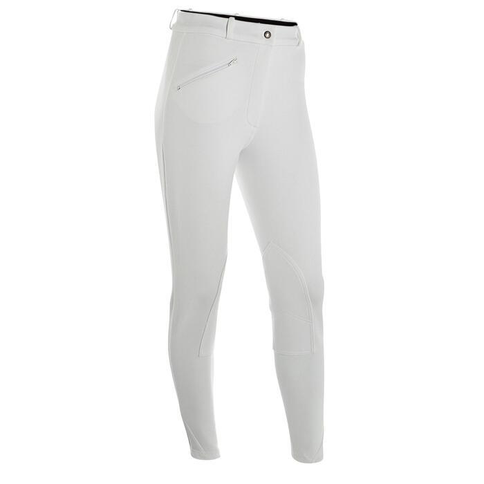 Pantalon Concours équitation femme BR100 blanc - 405807