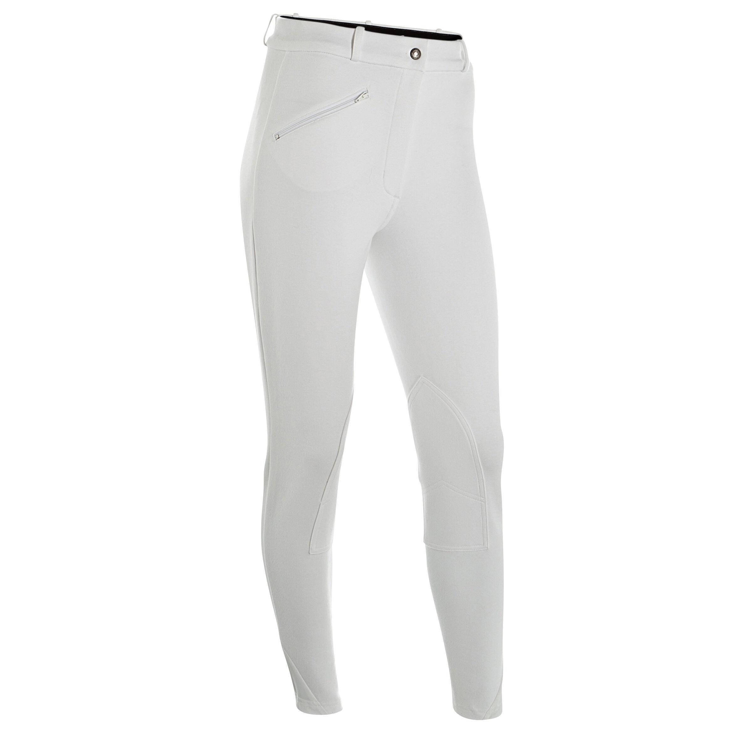 Pantalon 100 alb