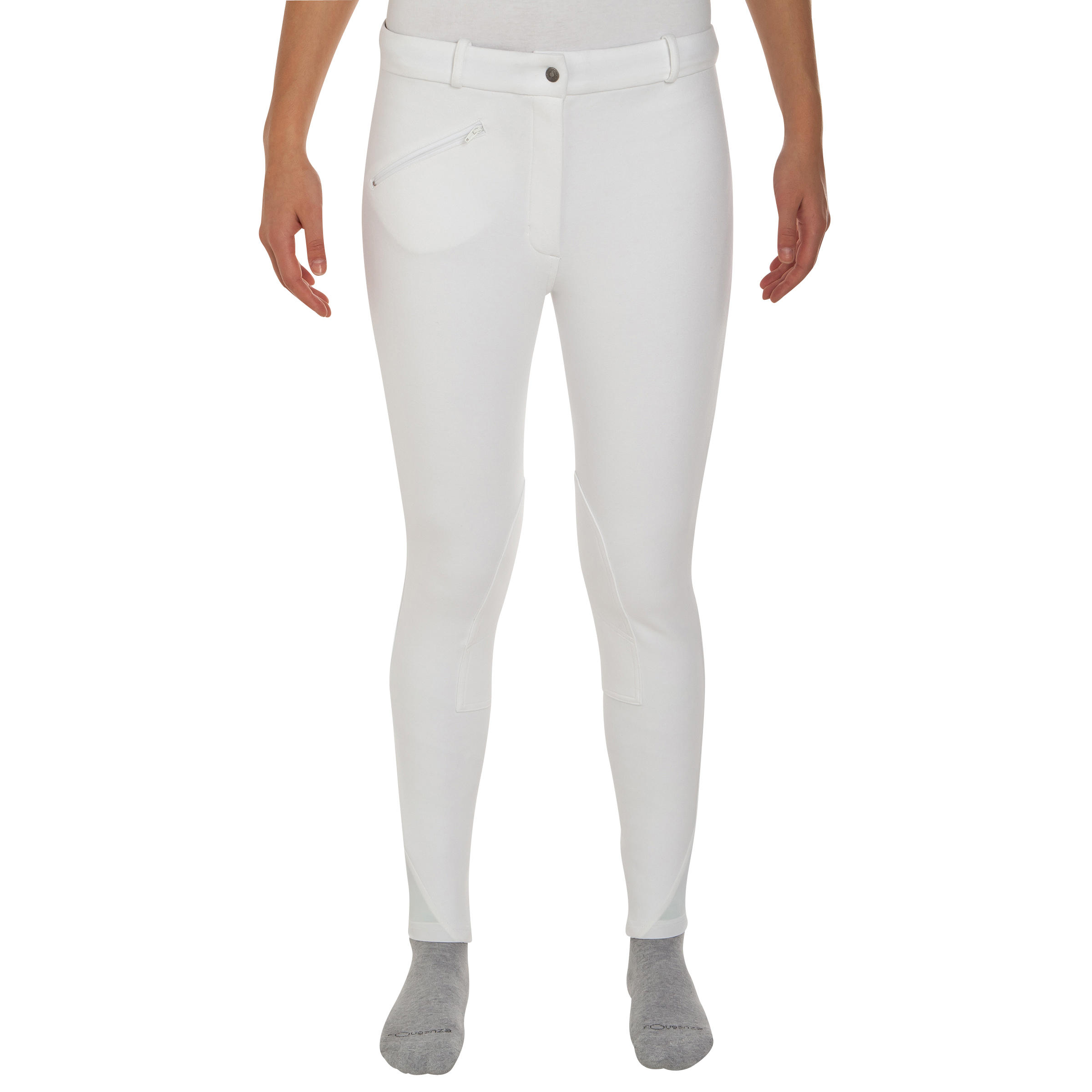 Adult Women's Horse Riding 100 Competition Jodhpurs - White