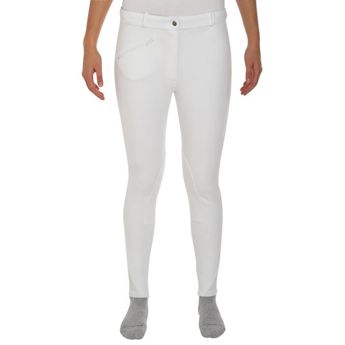 Pantalon Concours équitation femme BR100 blanc - 405808