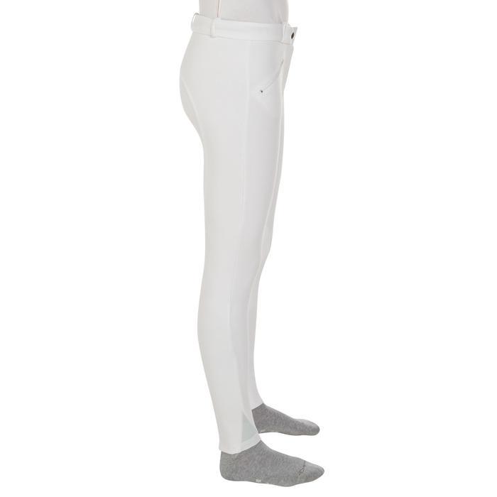 Pantalon Concours équitation femme BR100 blanc - 405809