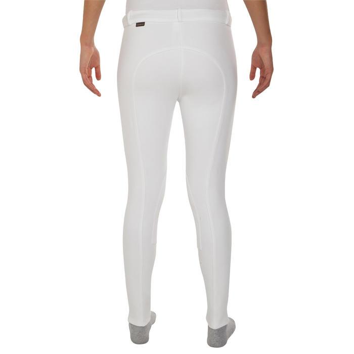 Pantalon Concours équitation femme BR100 blanc - 405812