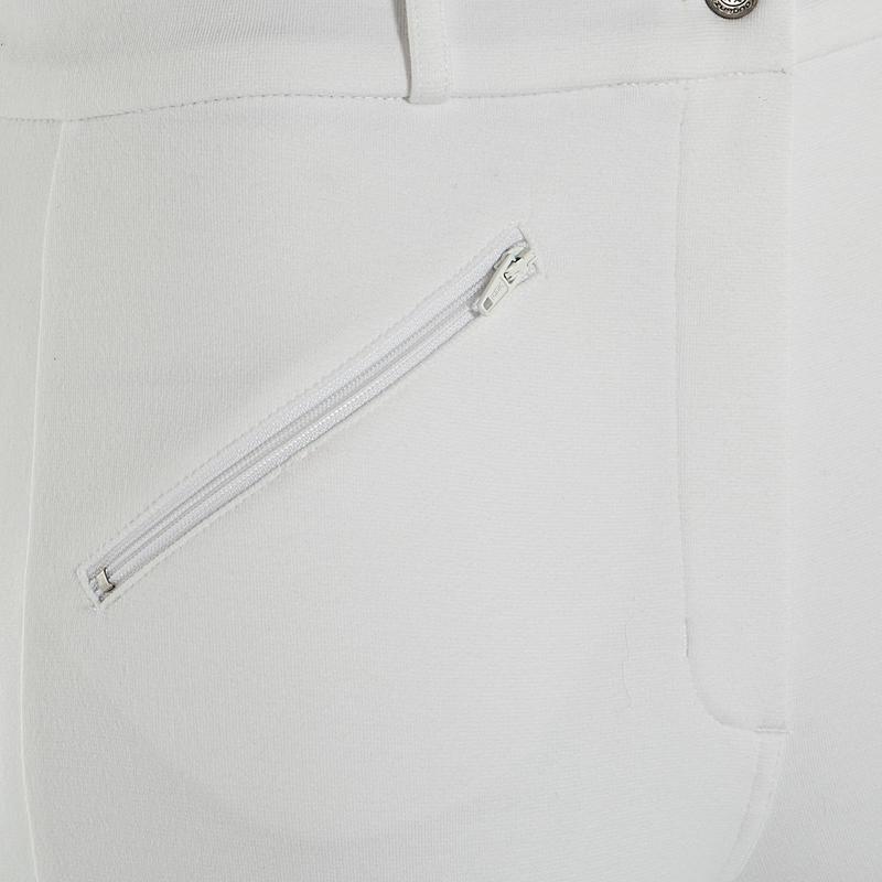 Pantalón Concurso equitación mujer BR100 blanco
