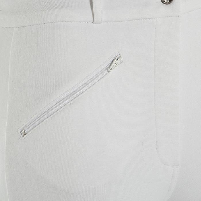 Pantalon Concours équitation femme BR100 blanc - 405817
