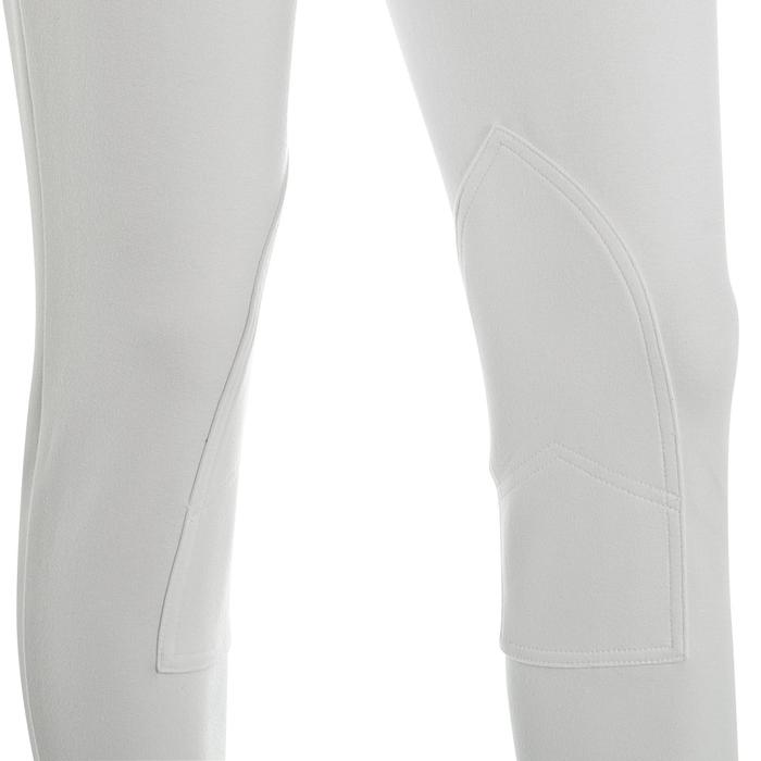 Pantalón de concurso equitación mujer 100 blanco