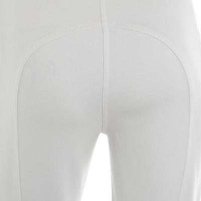 מכנסי רכיבה לתחרויות דגם 100 לנשים - לבן