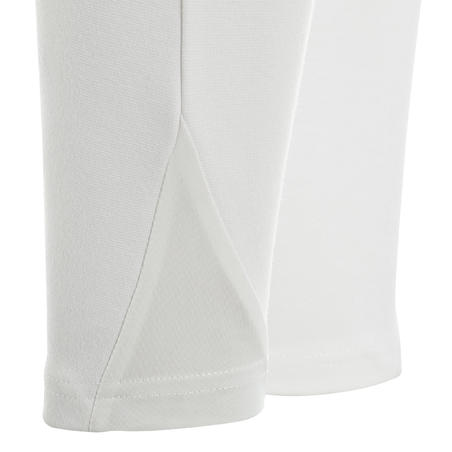 Pantalon de concours équitation femme100 blanc