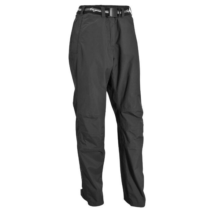 Sur pantalon imperméable équitation 500 2en1 noir - 405883