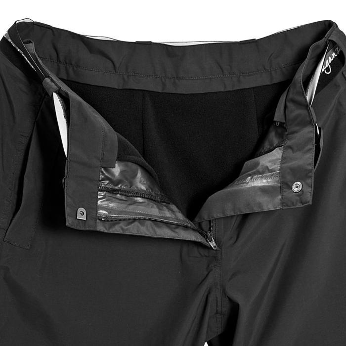 Sur pantalon imperméable équitation 500 2en1 noir - 405898