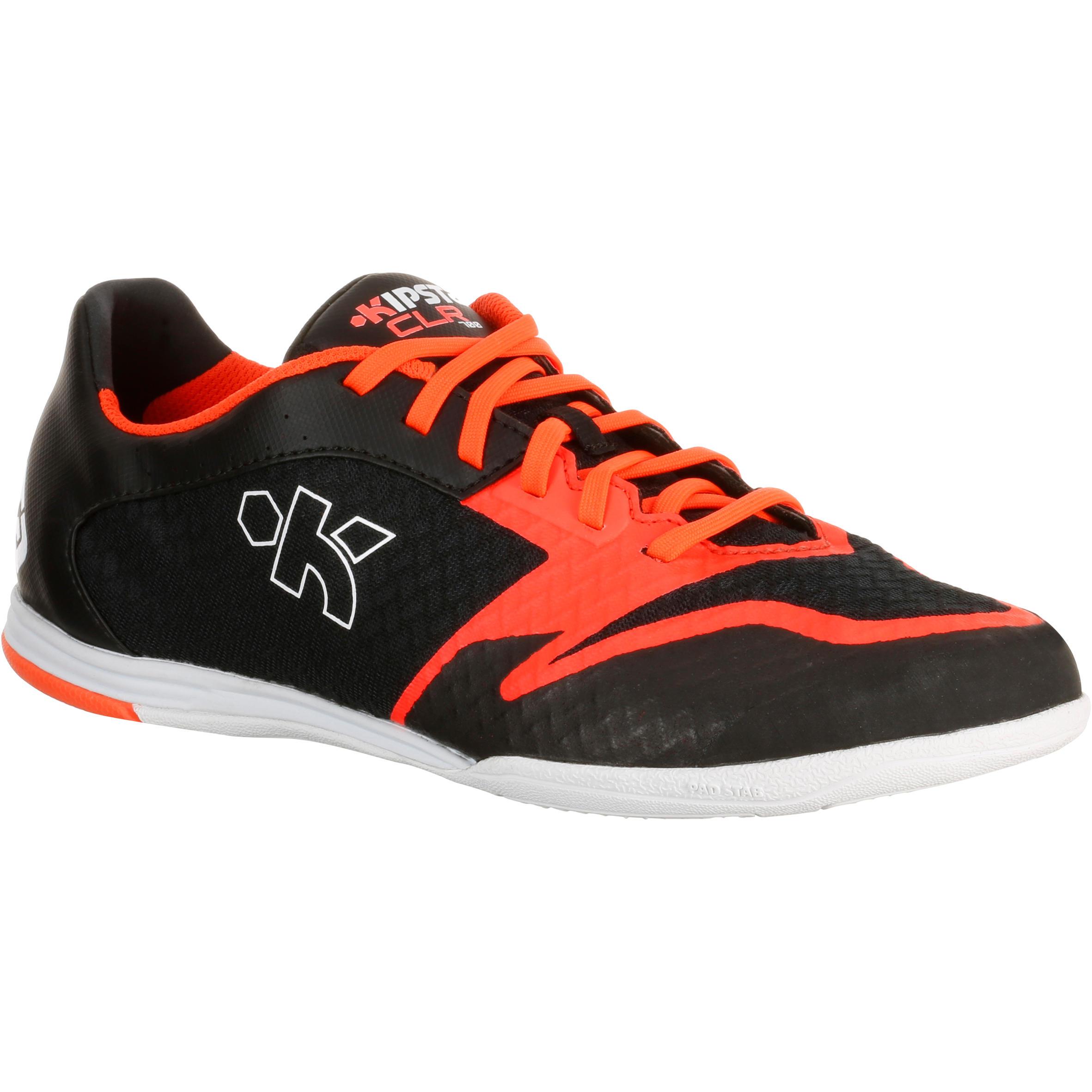 Zaalvoetbalschoenen voor volwassenen CLR 700 zwart-oranje