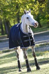 Buitendeken Allweather 300 1.000 D kastanjebruin - pony en paard - 406226