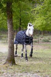 Buitendeken Allweather 300 1.000 D kastanjebruin - pony en paard - 406259