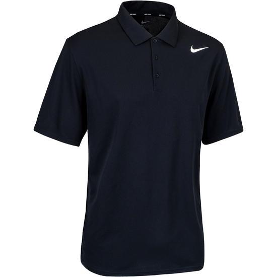 Tennispolo heren Nike Net zwart badminton/tafeltennis/padel/squash - 406281