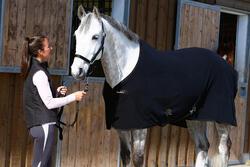 Staldeken Polar 200 zwart - pony en paard - 406319