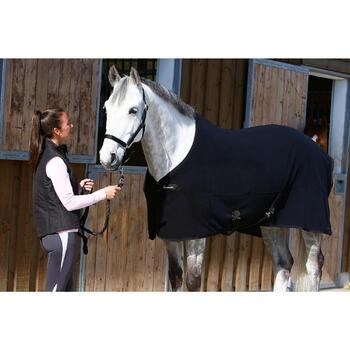 Chemise d'écurie équitation cheval et poney POLAR 200 noir - 406319