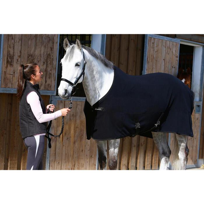 692c5b60e04a Manta Ligera de Cuadra Equitación Fouganza POLAR 200 Negro Caballo y Poni