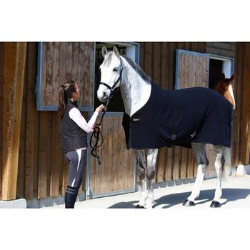 Manta ligera de cuadra equitación caballo y poni POLAR 200 negro