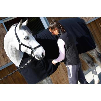 Chemise d'écurie équitation cheval et poney POLAR 200 noir - 406322